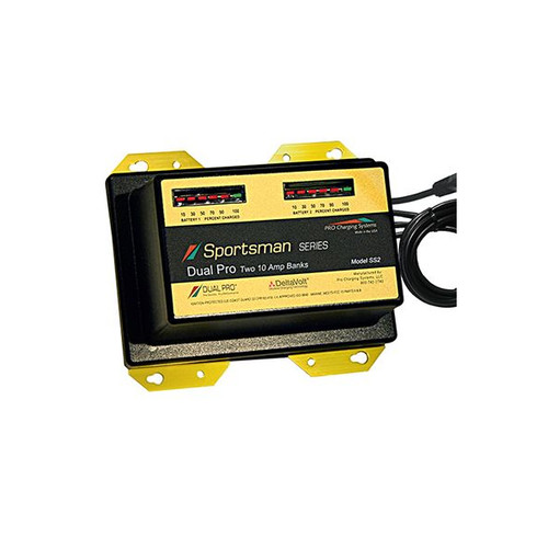 Dual Pro SS2 Sportsman Series Battery Charger 2 Bank 20 Amp