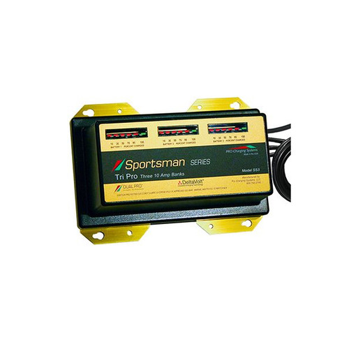 Dual Pro SS3 Sportsman Series Battery Charger 3 Bank 30 Amp