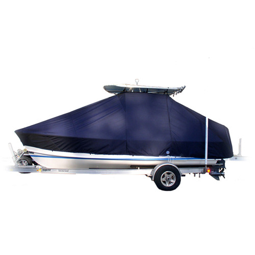 Key West 230(BR) S(Y250) L N JP6  T-Top Boat Cover - Weathermax