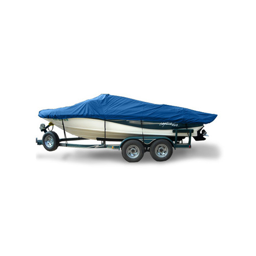 "BASIC FISH O/B 13'5""- 14'4"" 74"" No Hood Boat Cover - Hot Shot"
