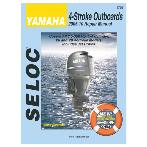 Seloc 1707 Service Manual Yamaha All 4-Stroke 2005-10