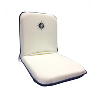White Portable Folding Chair w/ Compass Logo