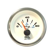 Sierra 62542P White Premier Pro Series Oil Pressure Gauge