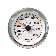 Sierra 62546PH White Premier Pro Series Speedometer