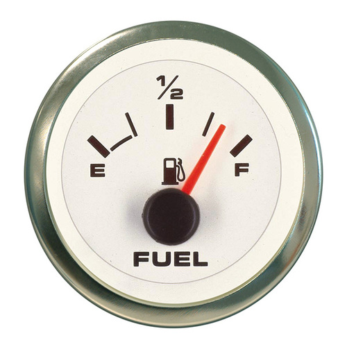 Sierra 62551P White Premier Pro Series Fuel Gauge