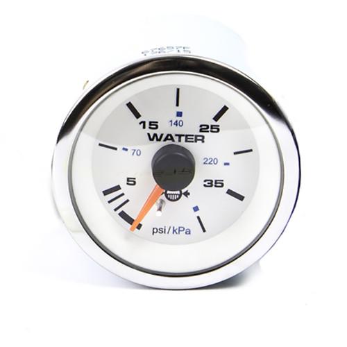 Sierra 67657P White Premier Pro Series Water Pressure Gauge