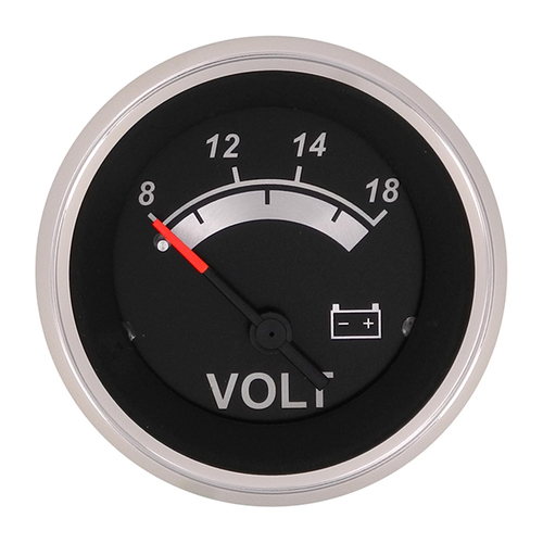 Sierra 67019P Black Sterling Series Voltmeter