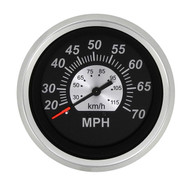 Sierra 67285P Black Sterling Series Speedometer