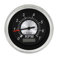 Sierra 67364P Black Sterling Series Tachometer