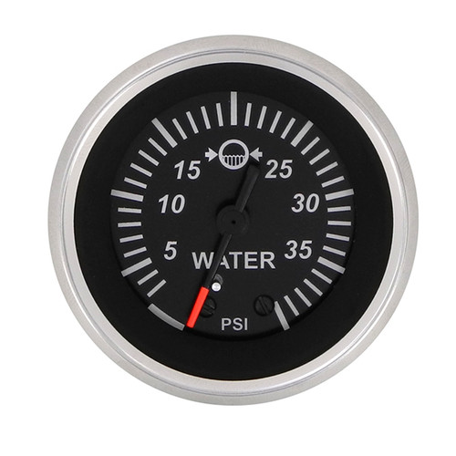 Sierra 67382P Black Sterling Series Water Pressure Gauge