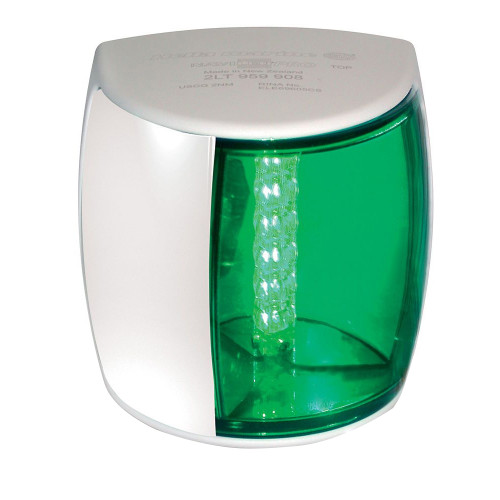 Hella Marine NaviLED PRO Port Navigation Lamp - 3nm - Green Lens\/White Housing