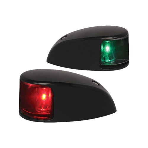 Hella Marine NaviLED Deck Mount Port & Starboard Pair - 2nm - Colored Lens\/Black Housing
