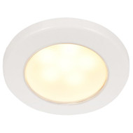 "Hella Marine EuroLED 75 3"" Round Screw Mount Down Light - Warm White LED - White Plastic Rim - 12V"