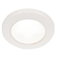 "Hella Marine EuroLED 75 3"" Round Screw Mount Down Light - White LED - White Plastic Rim - 24V"