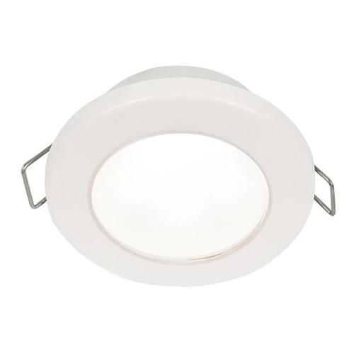 "Hella Marine EuroLED 75 3"" Round Spring Mount Down Light - White LED - White Plastic Rim - 12V"
