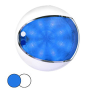 Hella Marine EuroLED 175 Surface Mount Touch Lamp - Blue\/White LED - White Housing