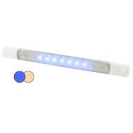 Hella MarineSurface Strip Light w\/Switch - Warm White\/Blue LEDs - 12V