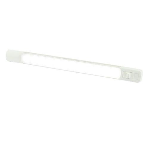 Hella Marine Surface Strip Light w\/Switch - White LED - 12V
