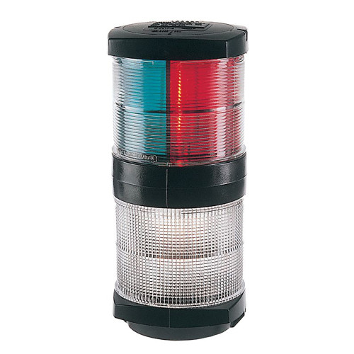 Hella Marine Tri-Color Navigation Light\/Anchor Navigation Lamp- Incandescent - 2nm - Black Housing - 12V