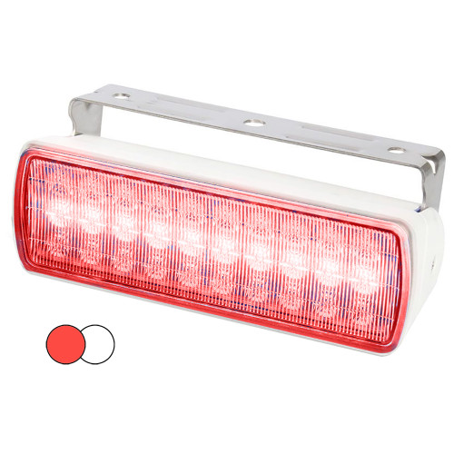 Hella Marine Sea Hawk XL Dual Color LED Floodlights - Red\/White LED - White Housing