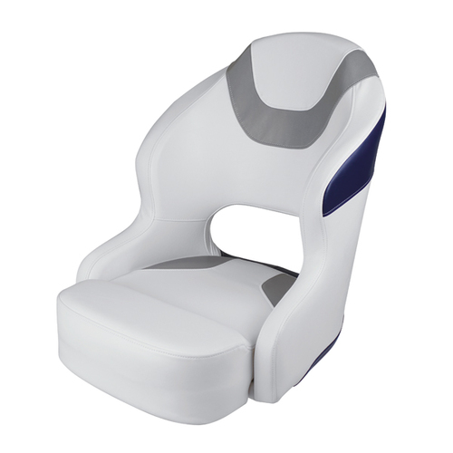 Wise Baja Boat Bucket Seat - Brite White/Marble Grey/Midnight Navy