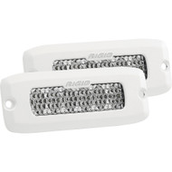 Rigid Industries SR-Q Series PRO Hybrid-Diffused LED - Flush Mount - Pair - White