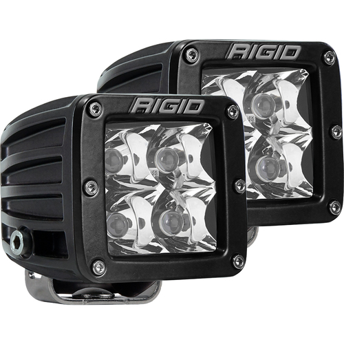 Rigid Industries D-Series PRO Hybrid-Spot LED - Pair - Black