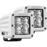 Rigid Industries D-Series PRO Hybrid-Spot LED - Pair - White