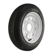 "Kenda Loadstar 480-12 5-Lug 12"" Custom Spoke Trailer Tire - White"