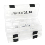 Calcutta 3500 Clear 2-Latch Tackle Tray - 3 Pack