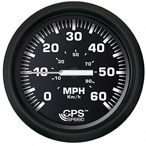"""Faria Euro Black 4"""" Speedometer 60MPH -GPS"""