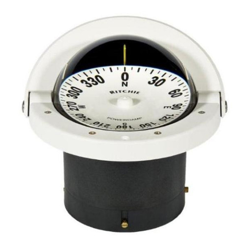 Ritchie FN-201 Navigator Flush Mount Compass - White