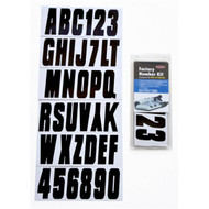 Inflatable Boat Registration Letter and Number Kit - Black