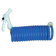T-H Marine 25' Coiled Wash Down Hose Blue