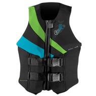 O'Neill Women's Siren L.S. USCG Vest - Black/Dayglow/Turquoise