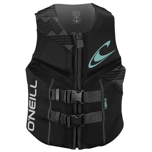 O'Neill Womens Reactor USCG Life Vest - Black