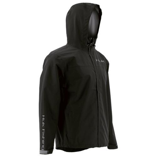 Huk Packable Rain Jacket - Black