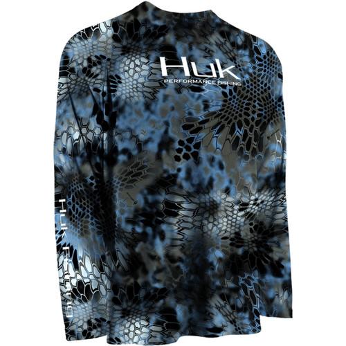 Huk Kryptek Performance Raglan Long Sleeve - Neptune
