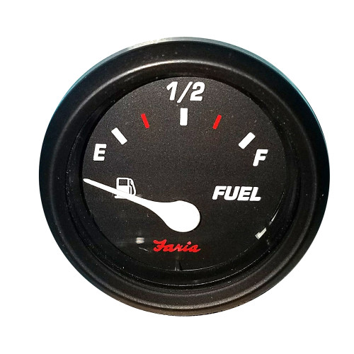 "Faria Professional 2"" Fuel Level Gauge - Red"