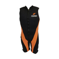 Barefoot International Orange/Black Sleeveless Barefoot Suit