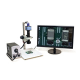 Aven 26700-102-15 Micro Zoom Video Inspection System w/ HD Color Camera & Bui...