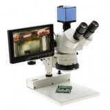 Aven 26800B-327 DSZV-44 Stereo Zoom Trinocular Microscope On Stand PLED With ...