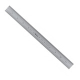 "Mitutoyo 182-125, Steel Rule, 12""/300mm ( 1/32, 1/64"", 1mm, 0.5mm), 3/64"" Thick X 1"" Wide, Satin Chrome Finish Tempered Stainless Steel"