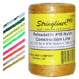 U.S. Tape  25712  Fluorescent Yellow   STRINGLINER PRO REELS  1080ft.(1lb.)TWISTED