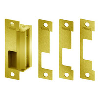 4100RS-US3 Trine Access Technology 4100 Series Fail Safe Cylindrical and Mortise Lock Electric Strike in Bright Brass