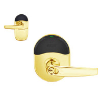 NDE-80-RD-ATH-605 Schlage NDE Series Cylindrical Storeroom Lock in Bright Brass Finish