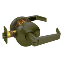 RL11-SR-10B Arrow Cylindrical Lock RL Series Entrance Lever with Sierra Trim Design in Oil Rubbed Bronze