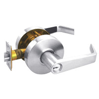 RL12-SR-26 Arrow Cylindrical Lock RL Series Storeroom Lever with Sierra Trim Design in Bright Chrome