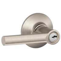 F80-BRW-RH-619 Schlage F Series - Broadway Lever style with Storeroom Lock Function in Satin Nickel
