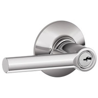 F80-BRW-RH-625 Schlage F Series - Broadway Lever style with Storeroom Lock Function in Bright Chrome